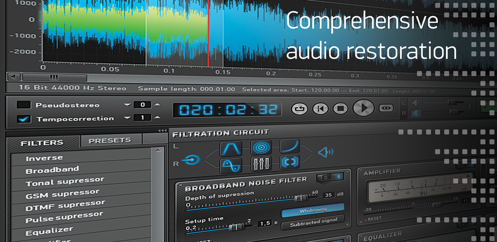 Sound Cleaner II: Comprehensive audio restoration software