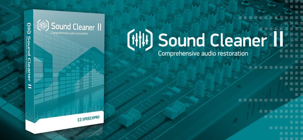 Sound Cleaner II: Comprehensive audio restoration software | Speech