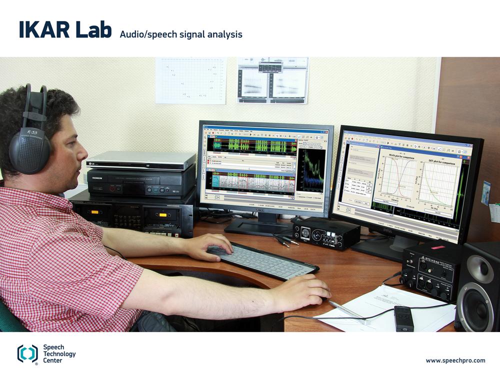Ikar Lab Forensic Audio Suite Speech Technology Center